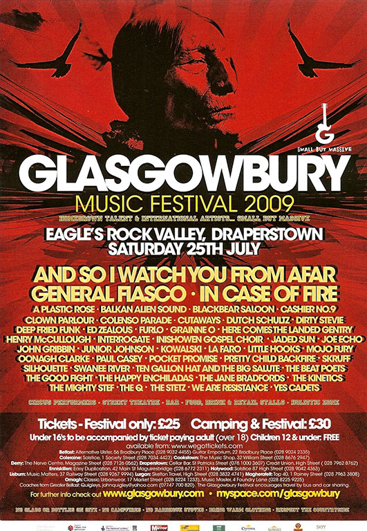Festival Lineup (Saturday 25th July, 2009) | Glasgowbury Music Group